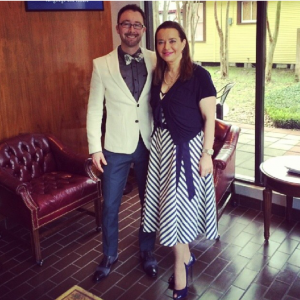 Ryan with business mentor and CEO of MasterWord Services, Mila Golovine